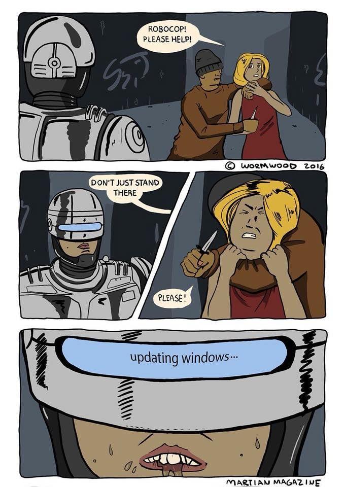 Y por esto Robocop usa Linux