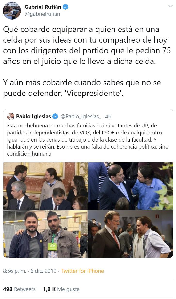 Pablemos, Arrimadas, y Espinosa de los Monteros, ponen Twitter patas arriba por echarse unas risas juntos