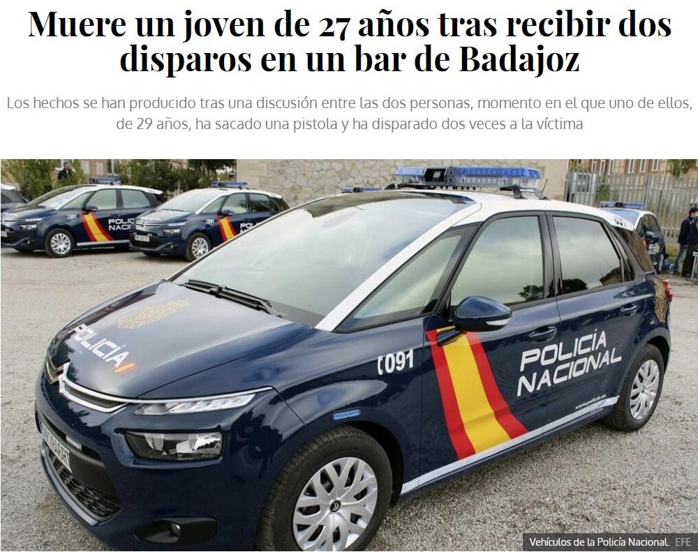 Reyerta en Badajoz