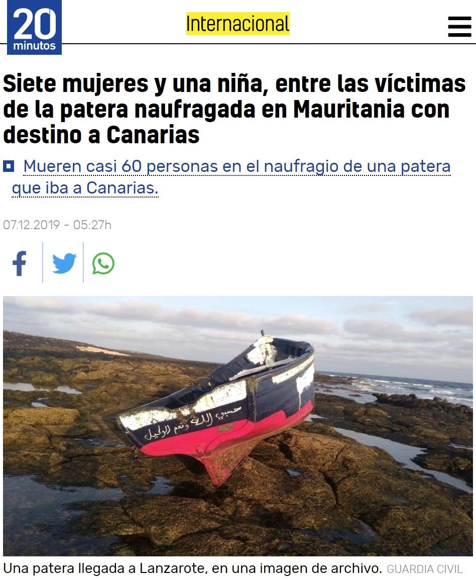 """Titular antes de volvernos retrasados: """"Mueren al menos 63 personas en una patera naufragada"""""""