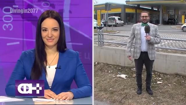 Un reportero le pide matrimonio a la presentadora de informativos