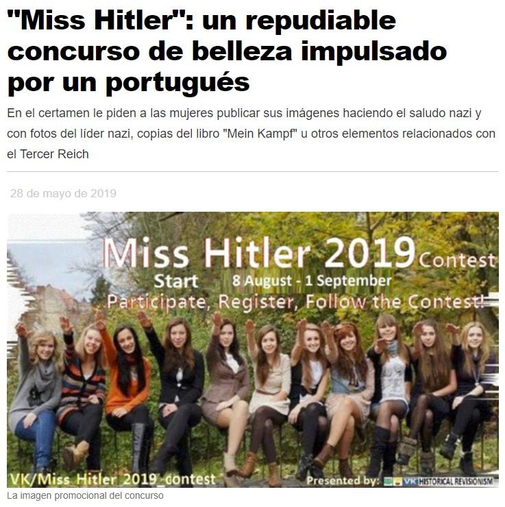 """MISS HITLER"": El certamen de belleza aria"