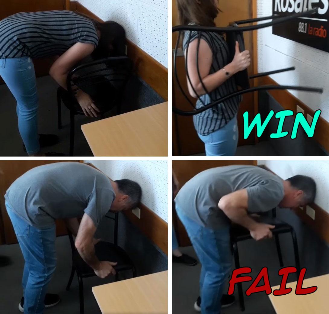 El reto de la silla