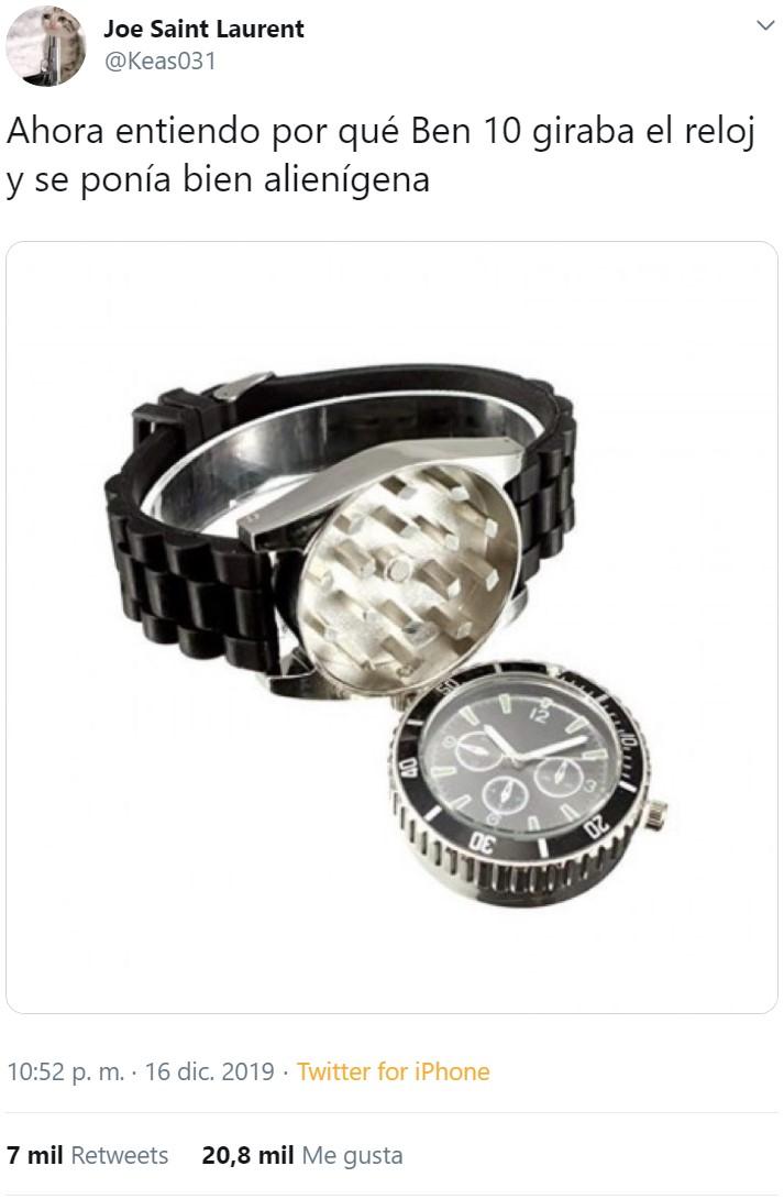 Este reloj no te da la hora, te da la noche entera