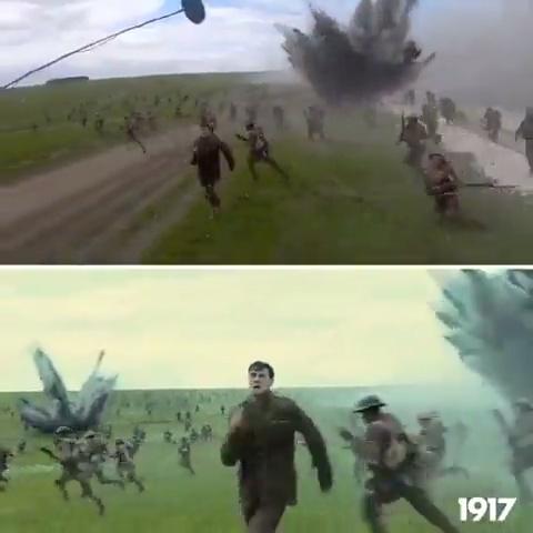 1917: Rodaje crudo vs escena terminada