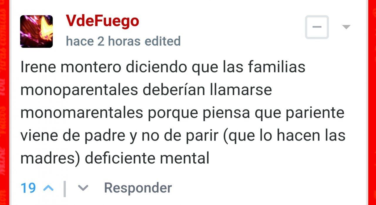 """Irene Montero: """"La mayoría de familias monoparentales deberían ser llamadas familias monomarentales"""""""