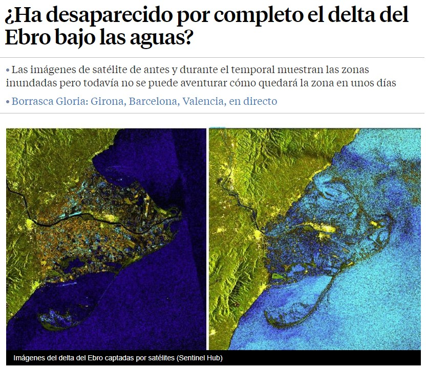 Vamos de desastre en desastre... ahora toca el Delta del Ebro