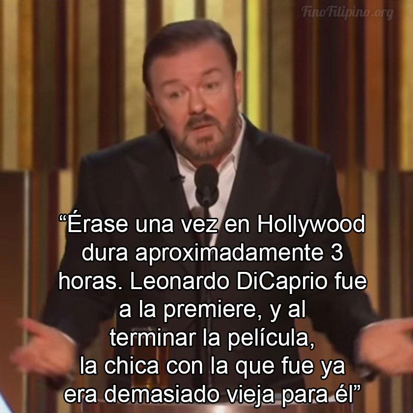Ricky ha dado su discurso en los Golden Globes y ha estado brillante, como siempre
