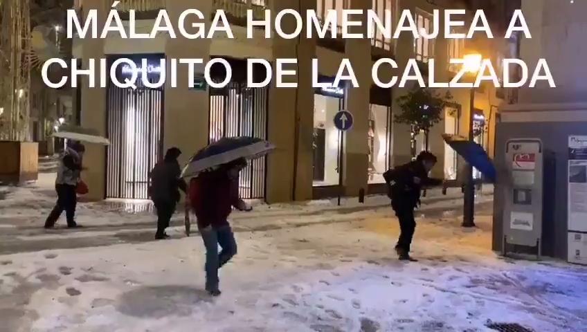 Emotivo homenaje a Chiquito de la Calzada en Málaga