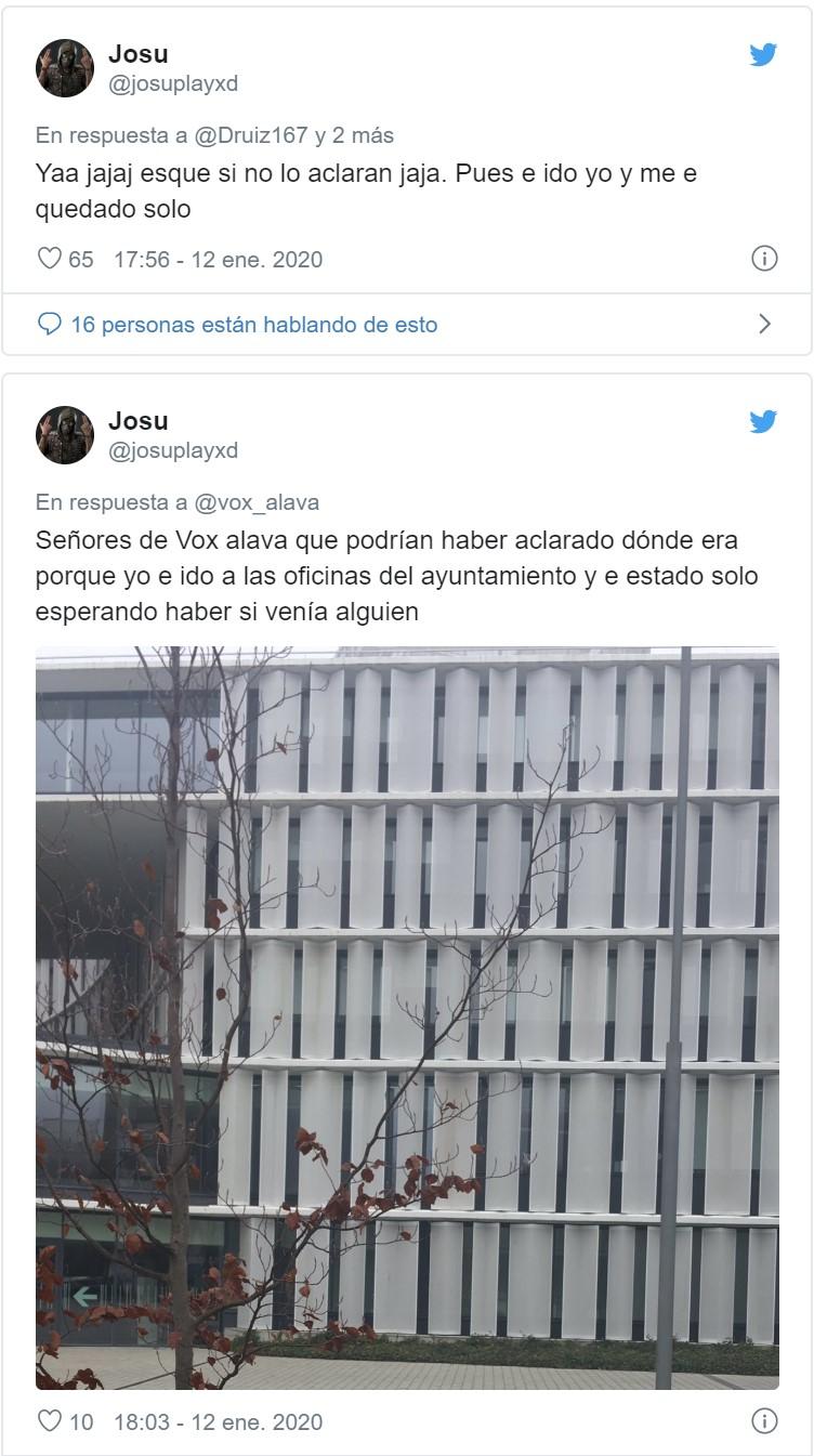 El drama del manifestante que quería ir a la concentración de Vox en Vitoria, y se confundió de lugar