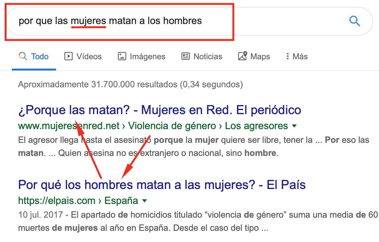 Google en gramática... necesita mejorar