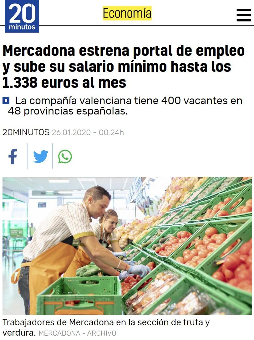 A Mercadona se la pela el SMI