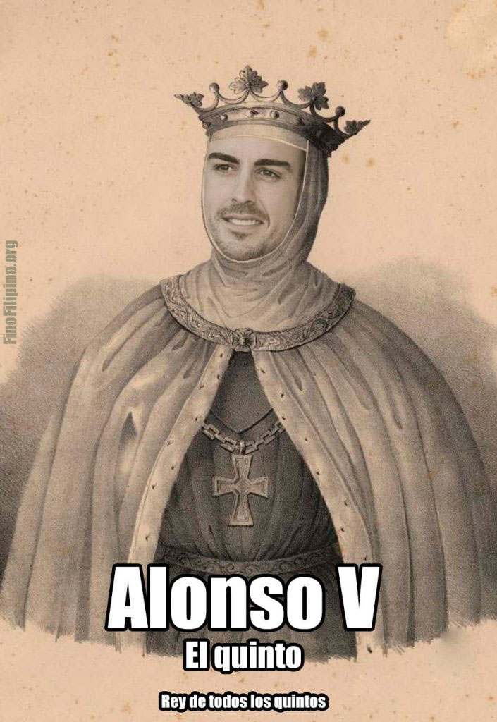 La F1 confirma el título oficial de Fernando Alonso V, rey de todos los quintos