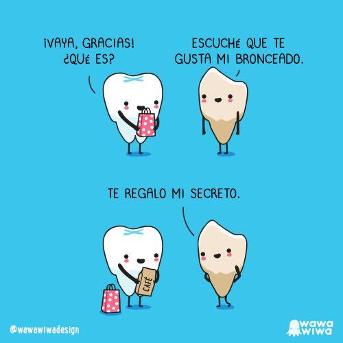 La droja buena que además te broncea los dientes