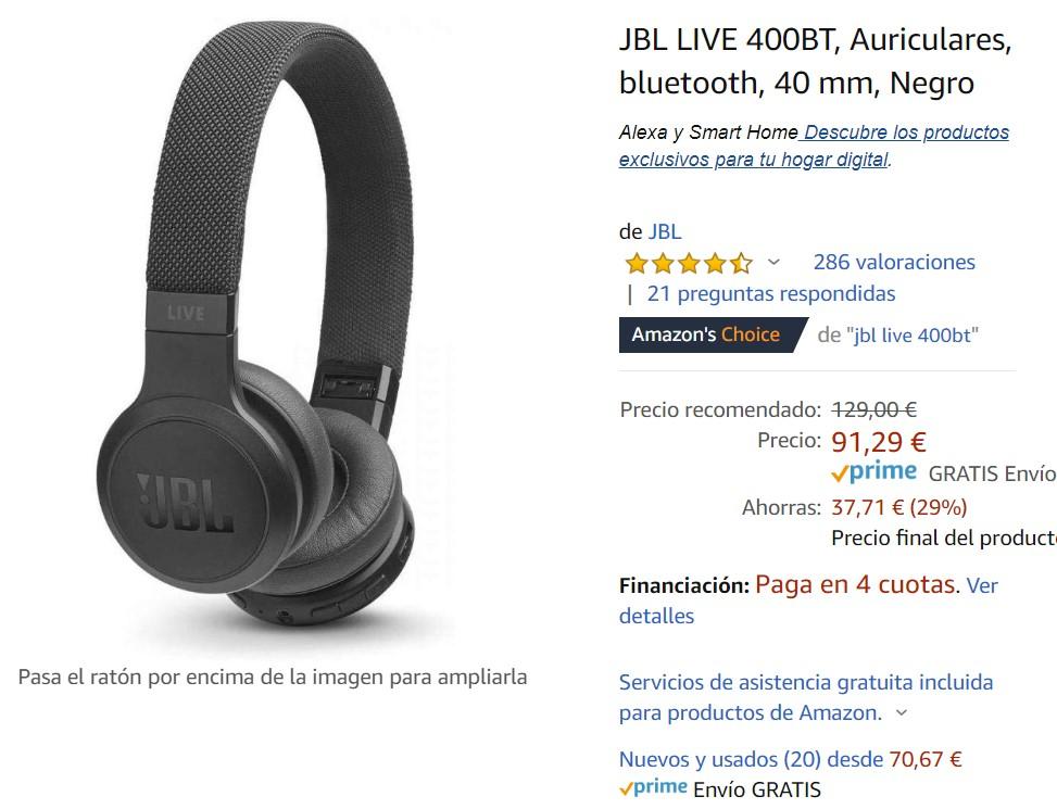 Estaba yo mirando auriculares inalámbricos para comprar y...