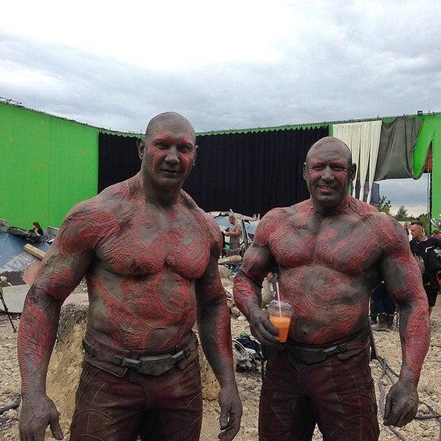 Actores con sus dobles de acción