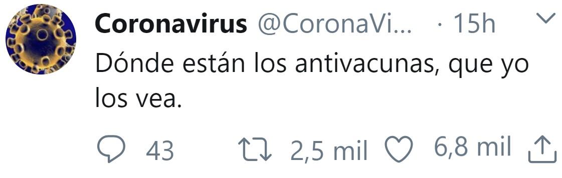 El Coronavirus ya tiene Twitter
