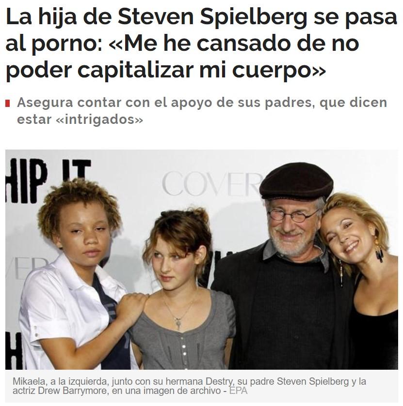 ¿Tendremos la primera escena de cine X dirigida por Spielberg?
