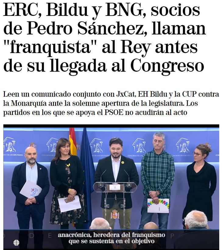 Ya está Rufián hijoputizando la legislatura de PDRO SNCHZ :D