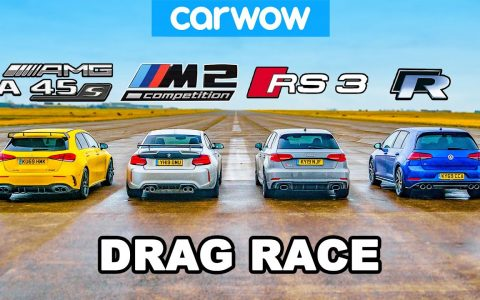 AMG A45S (421cv) vs BMW M2 Comp. (411cv) vs Audi RS3 (400cv) vs VW Golf R (310cv)