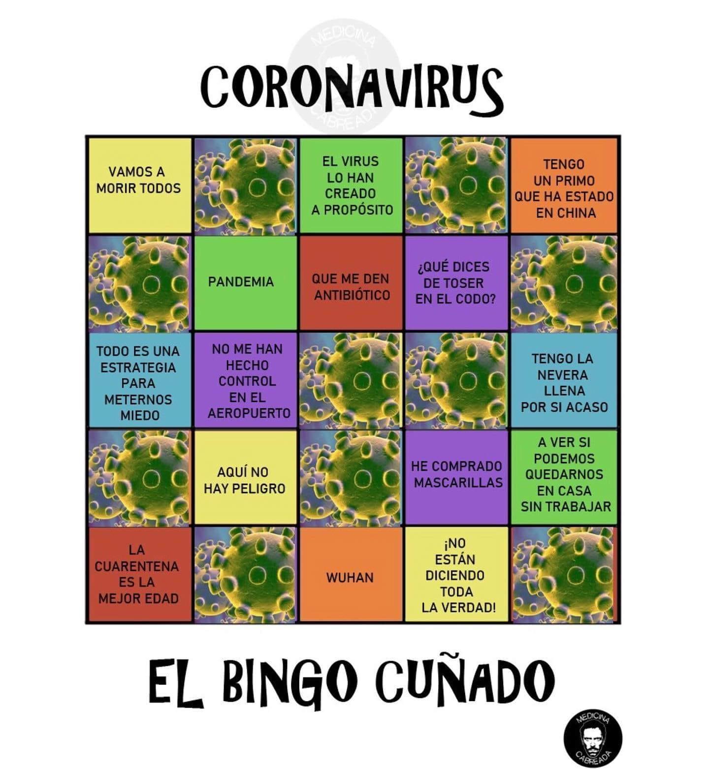 El Bingo Cuñado del Coronavirus
