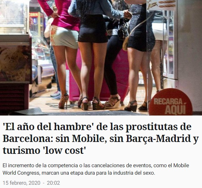 """Si la noticia fuera de Mediterráneo Digital: """"Época de zorras flacas en Barcelona"""""""