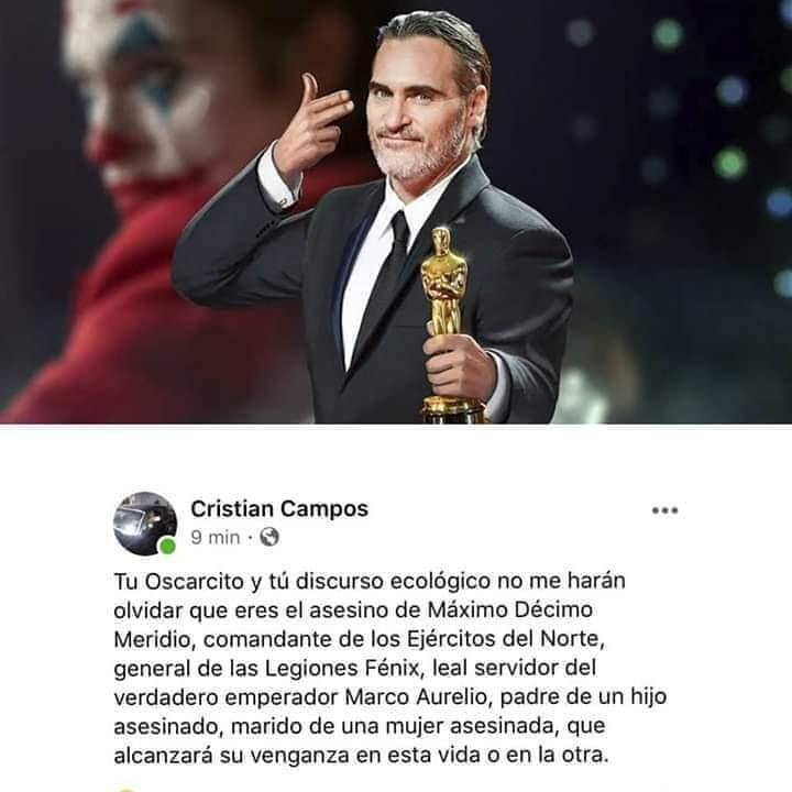 Ni olvido ni perdón, Joaquin Phoenix...