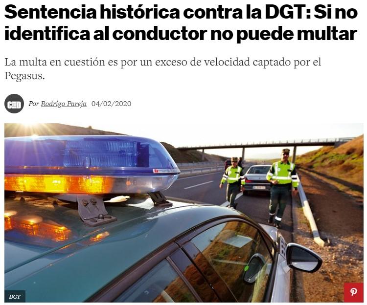 Palo a la DGT: no pueden multar si no han parado y/o identificado al conductor en el momento de la infracción