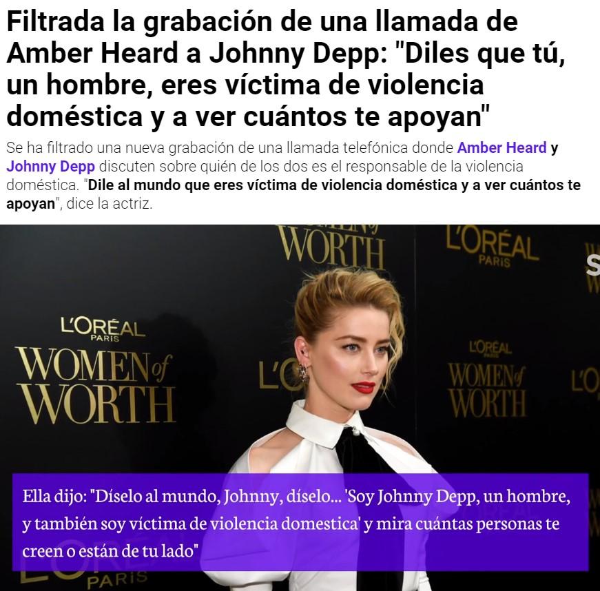 Amber Heard se burlaba de Johnny Depp porque sabía que al ser hombre nadie creería que era víctima de violencia doméstica