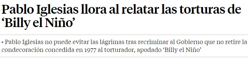 Baia Baia... Parese que las víctimas de Billy El Niño ya no son tan importantes...