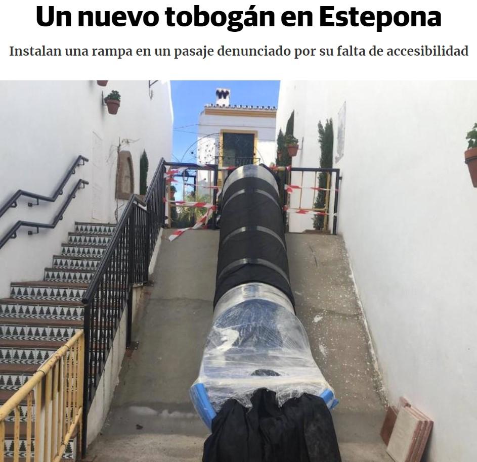 El tobogán de Estepona tiene secuela: EL TOBOGÁN DE ESTEPONA 2