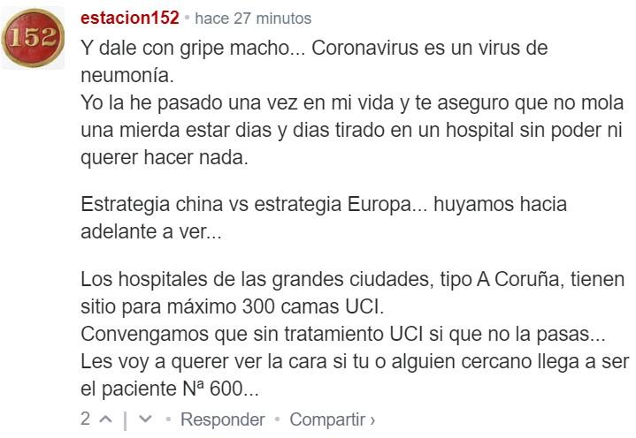Se empieza a confirmar la idea de que el Coronavirus será una gripe más (enfermedad inevitable)