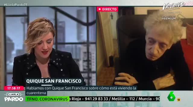Enrique San Francisco deja sin palabras a Cristina Pardo
