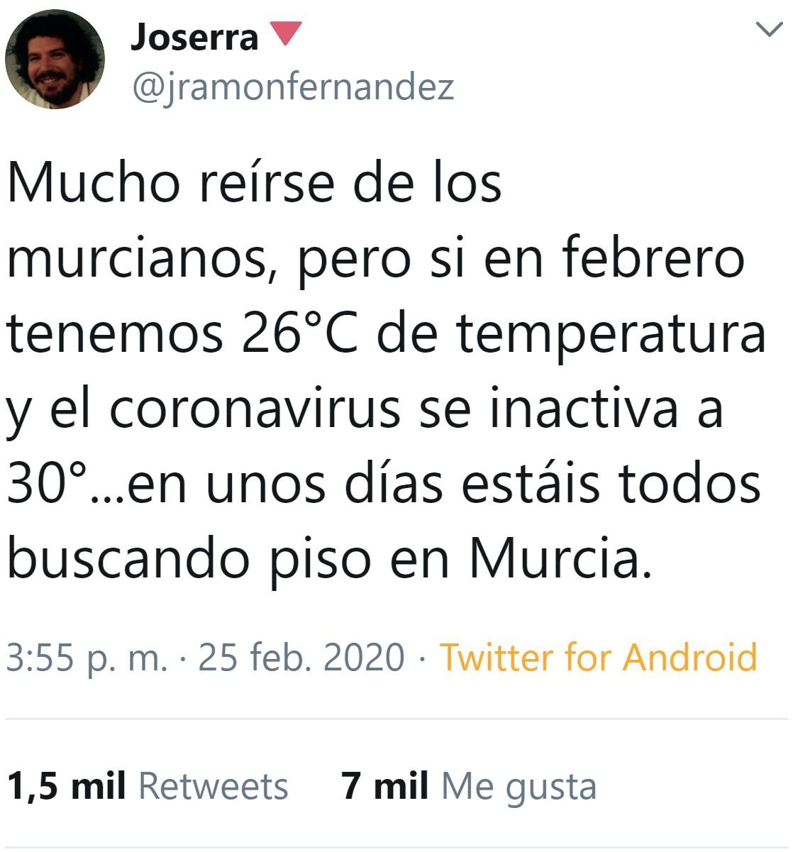 Reíros, pero en unos meses Murcia nueva capital de España por supervivencia