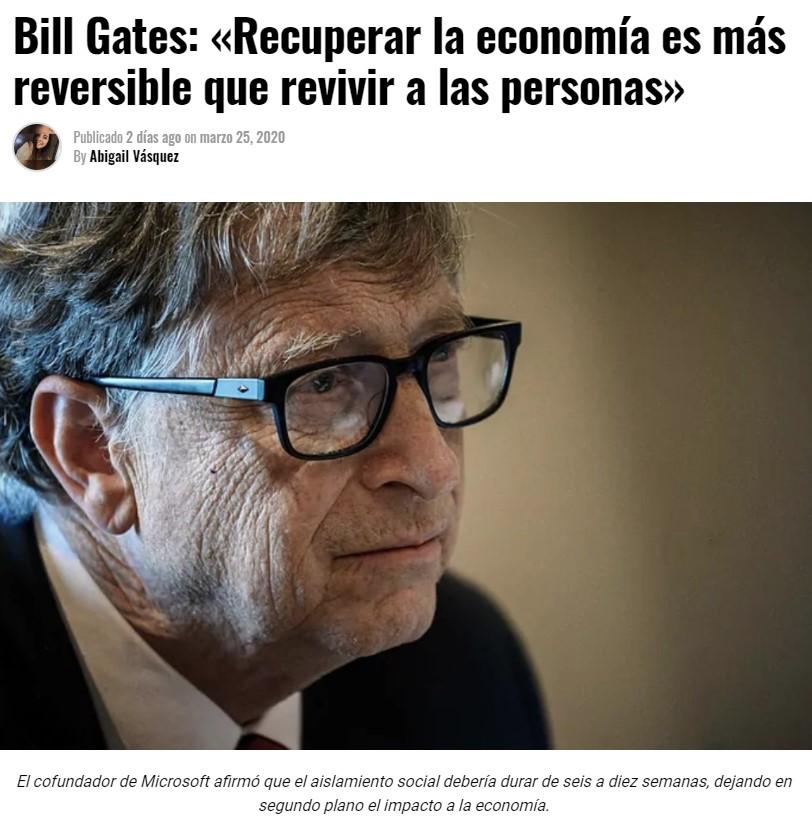 Bill Gates protagoniza el titular del año