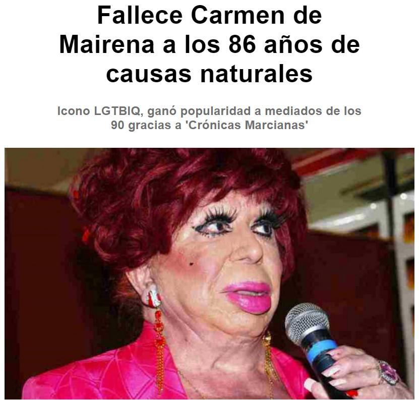 Carmen de Mairena nos ha dejado con 86 años