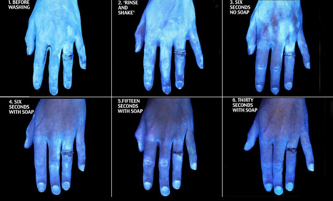 Las bacterias que se pegan a tus manos después de lavarte las manos de diferentes formas