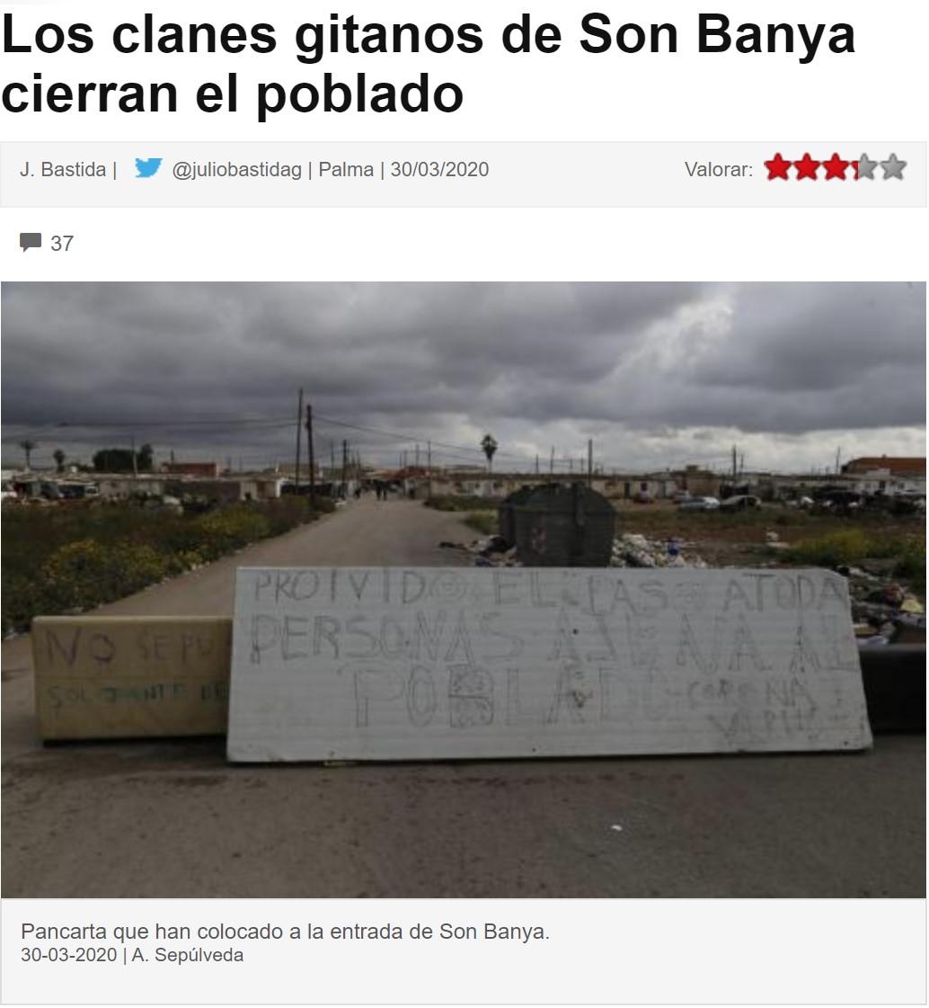 Prohibida la venta de droja en Son Banya por el COVID-19.