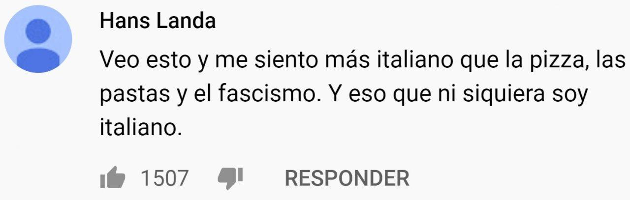 Cazas forman la bandera de Italia mientras suena Pavarotti de fondo