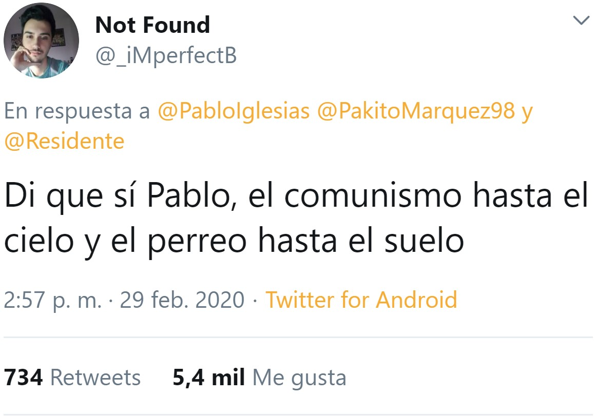 Pablo Iglesias, el Vicepresidente colega