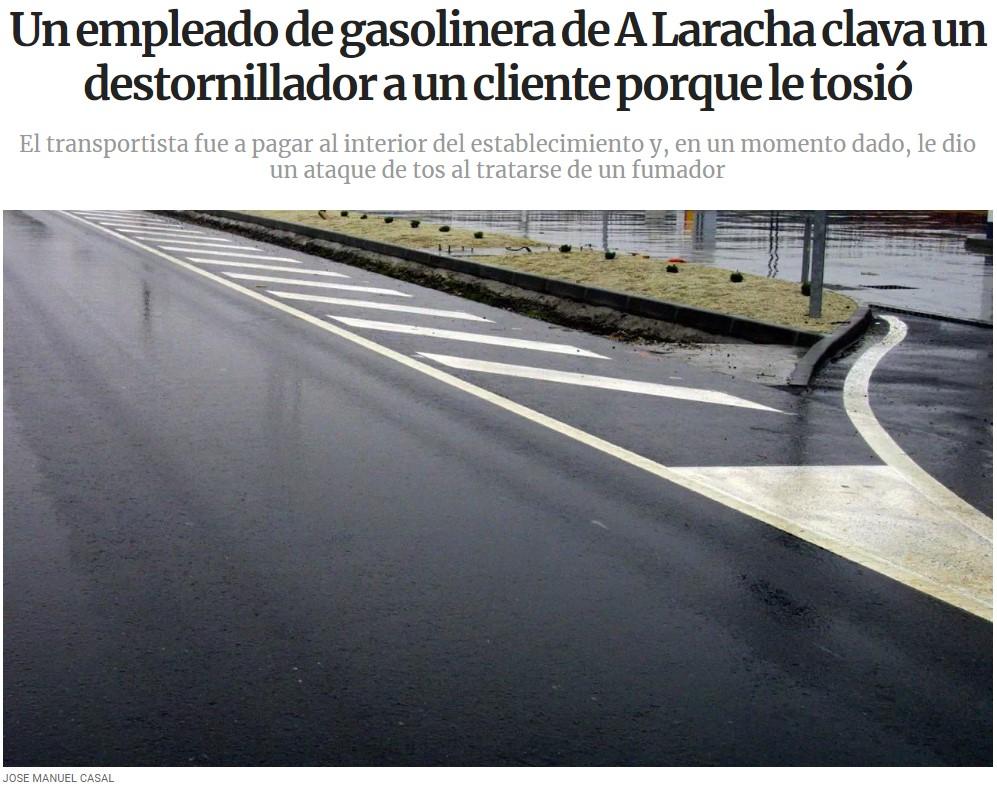Gasolinero usó destornillador contra ataque químico... ES SUPER EFECTIVO