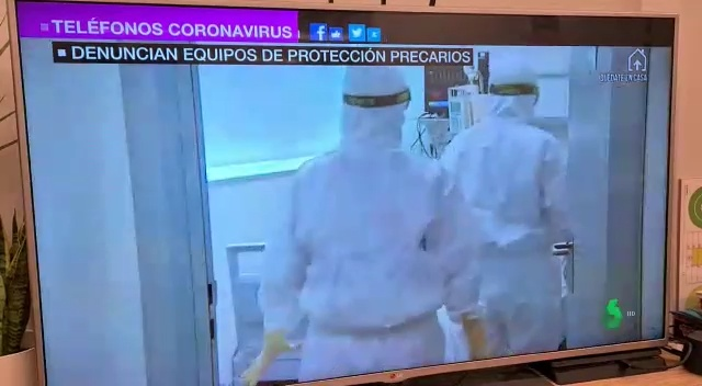 Ultimátum de los médicos de Madrid pidiendo material sanitario