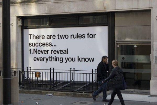 Hay dos reglas para el éxito: