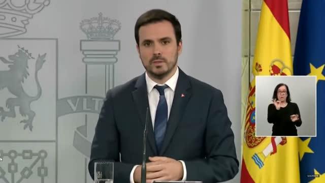 """Alberto Garzón, Ministro de Consumo: """"Percibimos en los datos que al no haber competiciones deportivas, las apuestas vinculadas a este tipo de eventos se han reducido de manera extraordinaria"""""""