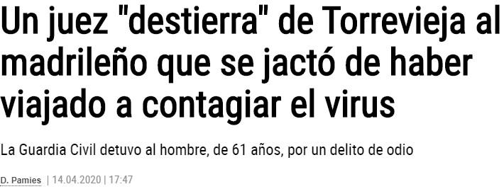 Se reía de sus vecinos diciendo que iba a Torrevieja a contagiarles, pero... el que ríe último, ríe mejor