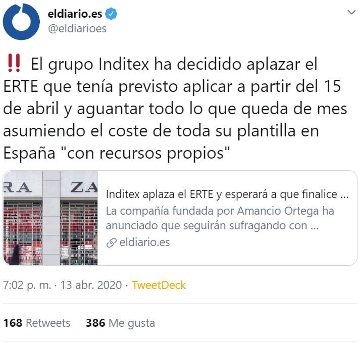 Año 2056. Amancio Ortega por fin aplica un ERTE a sus empleados confinados en sus hogares por la epidemia desde 2020