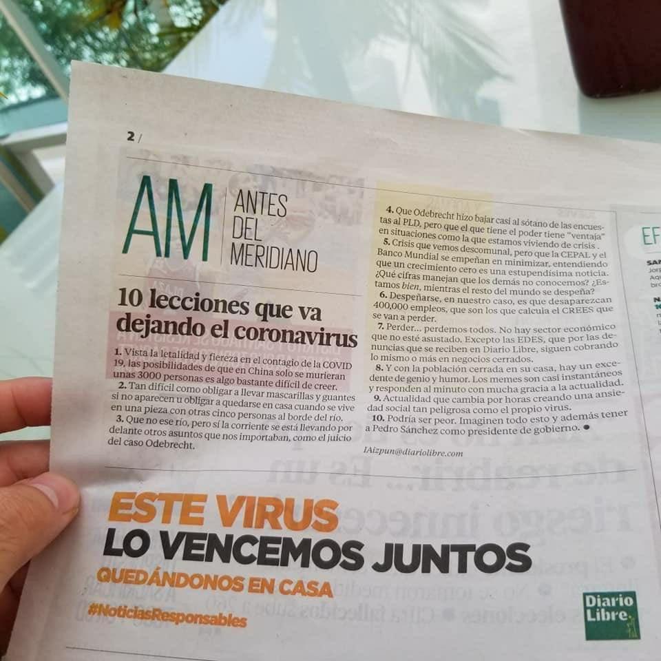 Periódico de la República Dominicana. Ojo al punto 10 😅