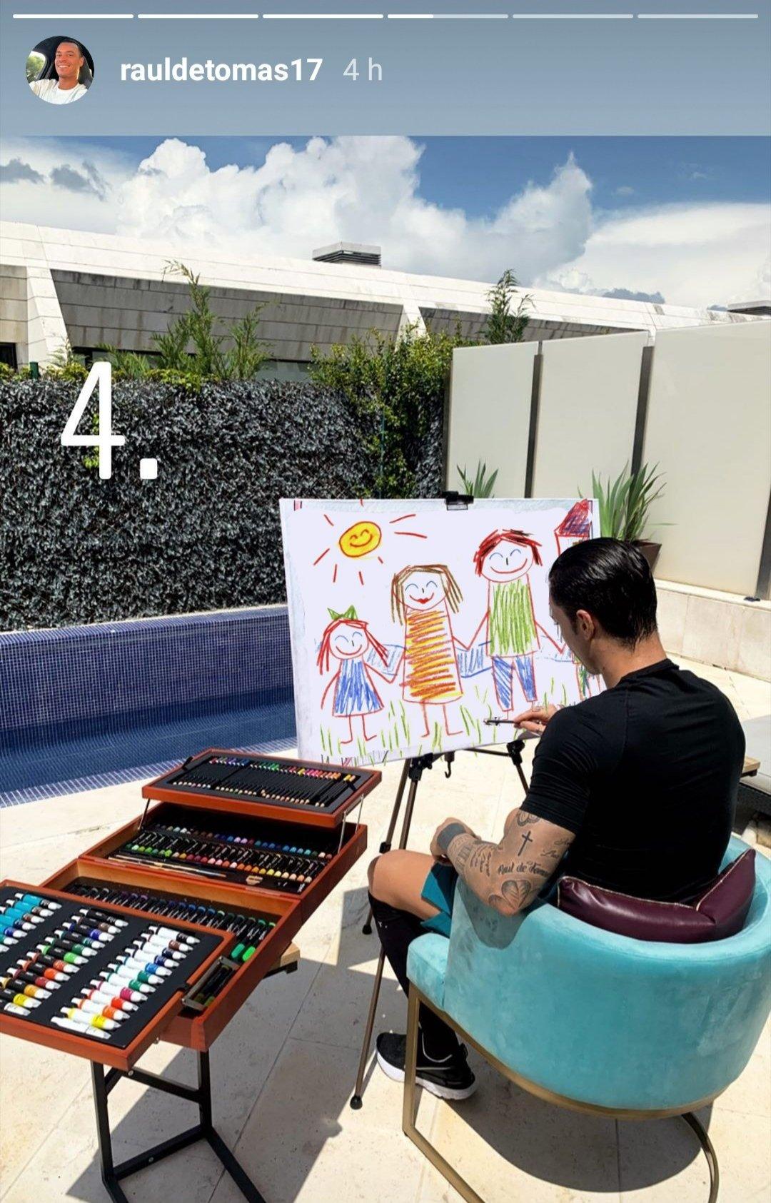 Raúl de Tomás pintando cuadros durante la cuarentena: cuando te compras un ordenador de 5000 euros para jugar al buscaminas