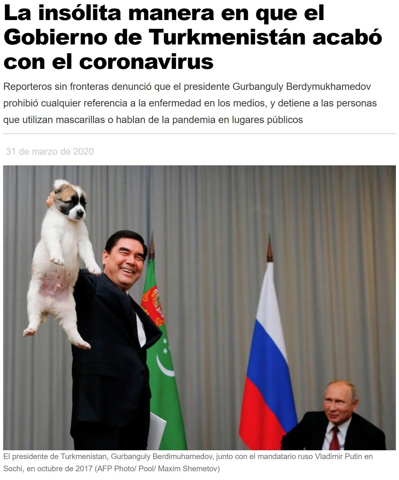 El plan perfecto y sin fisuras del dictador de Turkmenistán