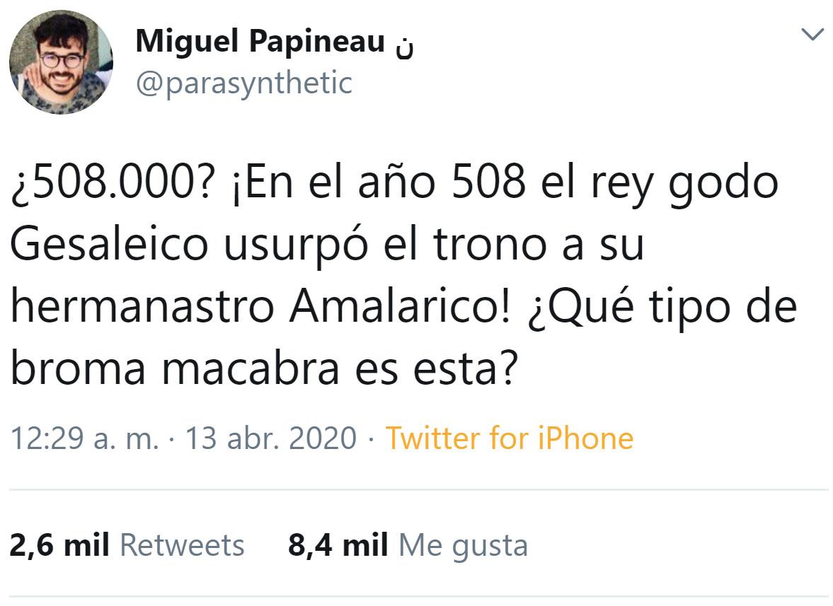 Maldito gobierno de España y sus referencias históricas ocultas en cifras para hacer daño...